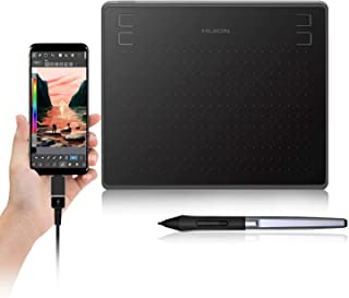 HUION HS64 Graphics Drawing Tablet with Battery-Free Stylus for android Windows macOS 4 Press Keys