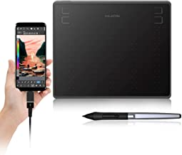 Huion HS64 Digital Graphics Tablets OSU! Drawing Tablet with 8192 Battery-Free Stylus and 4 Express Keys, Ideal Use for Di...
