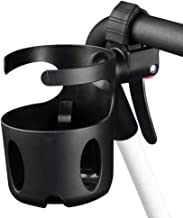 AULLY PARK Drink Cup Holder Adapter, 360° Rotation Handle Bar Mount for Baby Strollers, Wheelchairs, Bikes, luggages (Black)