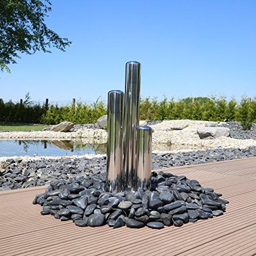 CLGarden 3 Edelstahlsäulen für Springbrunnen 3er Edelstahlsäulen Säulen Brunnen jetzt Säulenbrunnen selber Bauen
