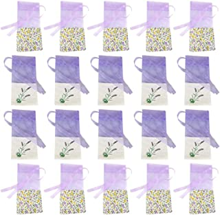 LIOOBO 20 Pezzi bustine vuote Sacchetti di Lavanda Sacchetto di fragranza per la conservazione di Gioielli Auto essiccate Erbe Armadio Fiori Viola Chiaro e Viola Chiaro Antico 10 di ciascuno