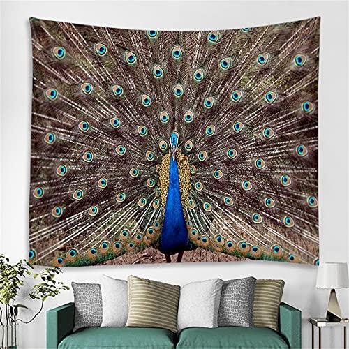 YYRAIN Tapiz De Animal Azul Bohemio, Pegatinas De Pared Multifuncionales para El Hogar, Cuadro Colgante, Toalla De Playa 180cm x 230cm{Width×Height} F