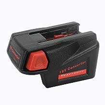 Tbattplus Adapter Converter for Milwaukee M18 18V Li-ion Battery to Milwaukee V18 48-11-1830 Battery