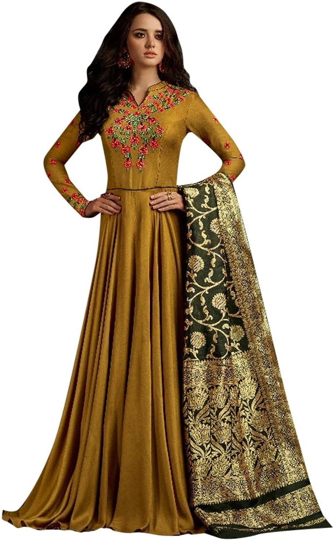 Bollywood Collection Pakistani Anarkali Salwar Suit Bridal Wedding Ceremony Punjabi Muslin Eid 798 4