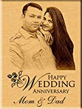 Incredible Gifts India Personalized Wedding Anniversary Gift - Engraved Photo Plaque