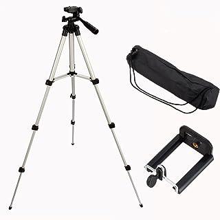 Yosoo Adjustable Aluminum Camera Tripod, Portable Camera Tripod Mount Stand Holder for iPhone Samsung Mobile Phone Canon N...