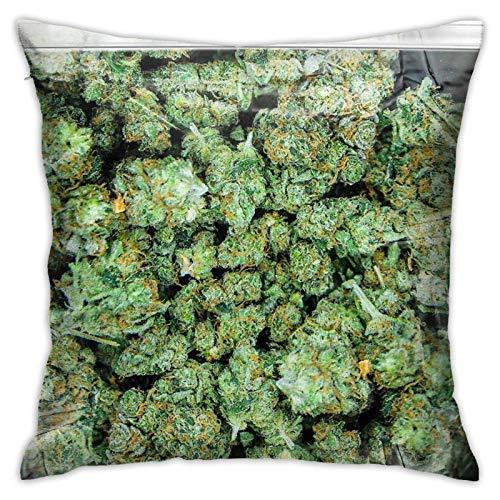 xiancheng Weed Purple Haze Cannabis Design Blumen Hanf Marihuana Indoor Kreative Dekorationen für Schlafsofa Square Stand Size Pilloase
