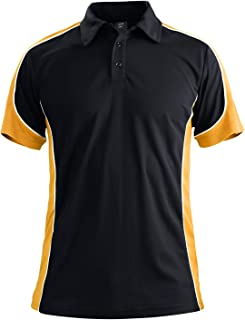Men's Outdoor Quick Dry Short Sleeve Performance 3 Button Golf Polo Tee Shirt