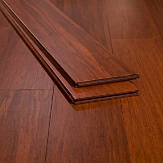 Ambient Bamboo - Bamboo Flooring Sample, Color: Cinnamon, Solid Strand Tongue and Groove