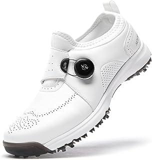 أحذية جولف NOXNEX للرجال مضادة للماء سريعة الأربطة سهلة الارتداء أحذية الجولف التدريب الرياضية