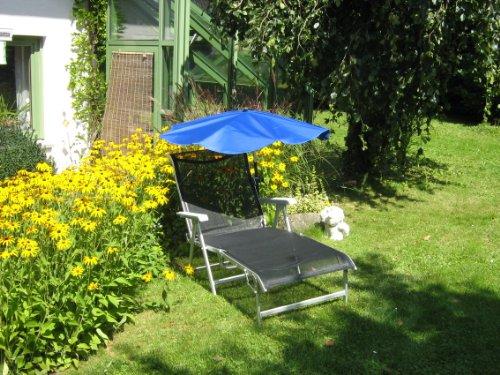 Nick & Ben Ensemble chaise longue de camping en aluminium léger 5,5 kg Bleu 190 x 62 x 29 cm EB HOLLY® Produits Stabilo - IT : Holly Parapluie à compartiments