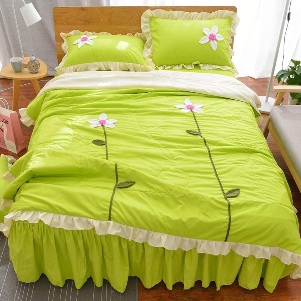 Princesse Lotus Leaf Lotus Summer Summer Cool Jupe De Lit Légère Quilt Nap/TV A