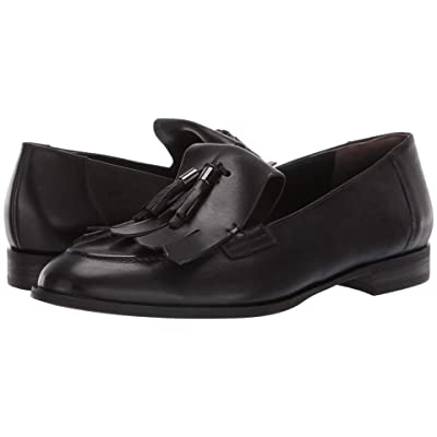 Paul Green Tam Flat (Black Leather) Women