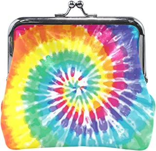 Coin Purse Tie Dye Spiral Colorful Pattern Womens Wallet Clutch Bag Girls Small Purse