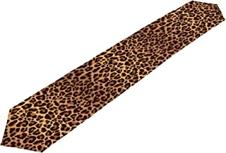 XMCL Table Runner Animal Leopard Print Table Cloth Long Rectangle Table Top Decor for Home Kitchen Dinner Party
