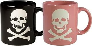 Waechtersbach Mugs, His and Her Skull Black/Pink, Set of 2