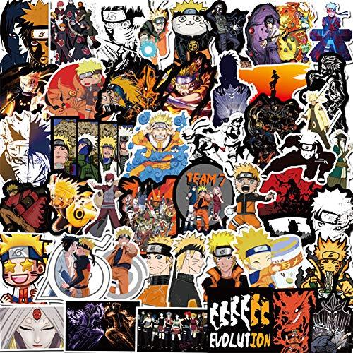 Naruto Stickers, Anime Vinyl Sticker for Nintendo Switch Laptop Water Bottle Bike Car Motorcycle Bumper Luggage Skateboard Graffiti,Best Gift for Kids Children(100 Pack)