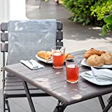 Vanage Beistelltisch in braun eckiger Gartentisch in Holzoptik - 10