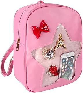FF1 Candy Leather Backpack Clear Star Beach Girls Bag Ita Bag