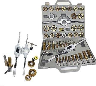 45 Pc Tap & Die SAE Titanium Tungsten Steel Thread Renew Tool
