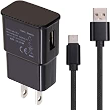 USB Charger with Data Cable Compatible with AT&T ZTE Trek 2 HD K88,Compatible with Moto Z2 Play,Compatible with Samsung Galaxy Note 8 S8 S8+,Compatible with LG G6 V20 G5(Black)