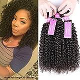 Original Queen 100% Brazilian Unprocessed Virgin Kinky Curly Human Hair Weave 3 Bundles Deep Curly Hair Extensions Mixed...