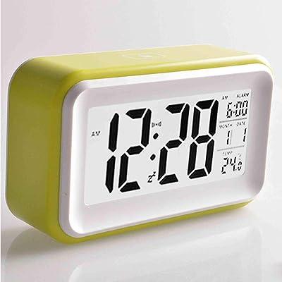 YUCH Despertador Electronico Calendario Perpetuo Decoracion del Hogar, Verde