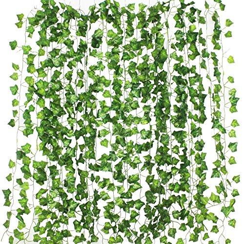 Formemory フェイクグリーン 観葉植物 アイビー 造花 藤 壁掛け 葉 グリーン インテリア 飾り ホーム オフ...