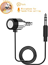 Replacement Audio Cable Cord Wire with in-line Auxiliary Calling Microphone, Hands Free Car Kit Adapter, 3.5mm Audio AUX Cable Cord