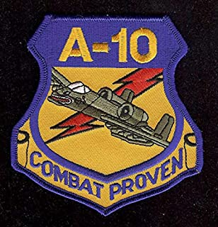 Sewing Embellishments & Finishes A-10 Warthog Patch US AIR Force Combat Proven AFB HOG Pilot Crew Chief Wing Wow (Great for Towels, Blankets, Pillows, Purses, Backpacks, Jackets)