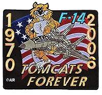 TC24 ミリタリー ワッペン アメリカ軍 パッチ F-14トムキャット フォーエバー 1970-2006 [並行輸入品]