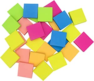 OmiSun Sticky Notes 3x3, Easy Post Sticky Notes, 6 Pads 100 Sheet/Pad, Bright Colorful Sticker for Home, Office, School (3x3 inches)