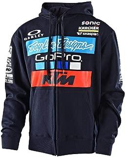 Troy Lee Designs Mens 2017 KTM Team LIC Hoody Zip Sweatshirt