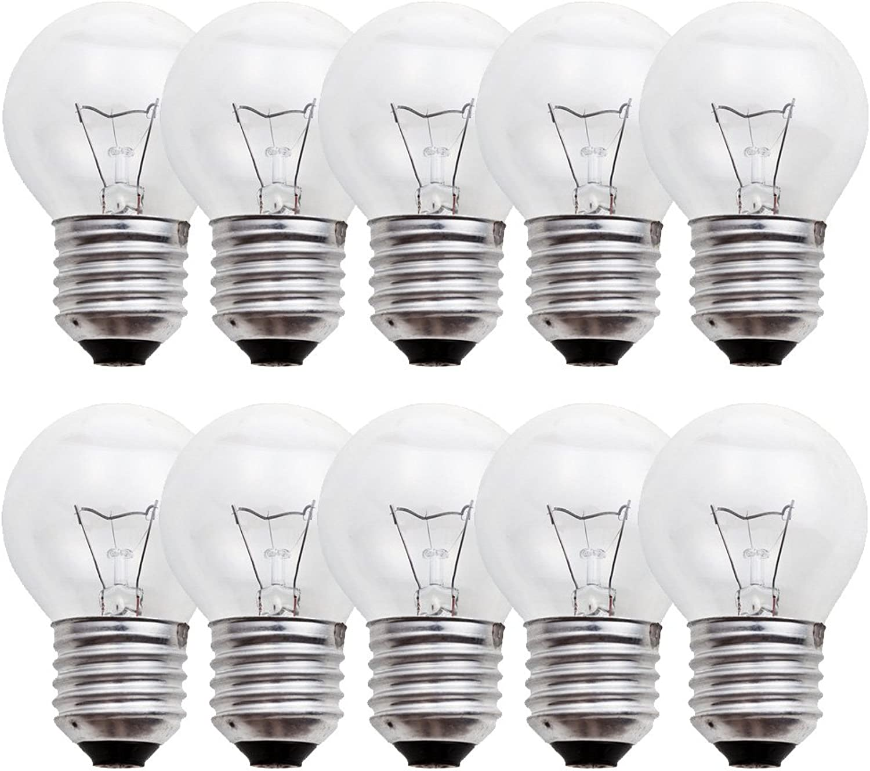 10 x Glühbirne Tropfen 40W E27 klar Glühlampe 40 Watt Glühbirnen Glühlampen warmwei dimmbar