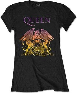 Rockoff Trade Queen Gradient Crest Camiseta para Mujer