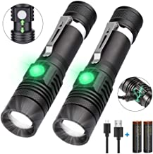 Rechargeable Flashlight(Battery Included),1200 Lumen Super Bright LED Flashlight, Cree LED, Water-Resistant,Zoomable,4 Mode Tactical Flashlight - Best Camping,Hiking, Emergency Flashlight
