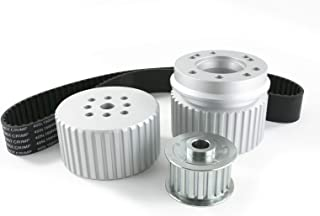 A-Team Performance Long Water Pump Gilmer Style Pulley Kit Compatible with Chevrolet SBC Small Block Chevy (SILVER)