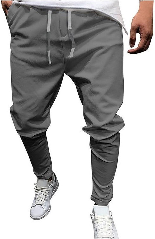 Mens Joggers Sports Pants - Cotton Blend Cargo Pants Sweatpants Trousers Mens Long Pants