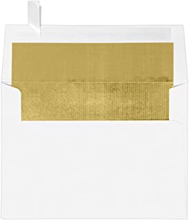 Best white envelope with gold lining Reviews