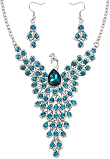 Best rhinestone peacock necklace Reviews