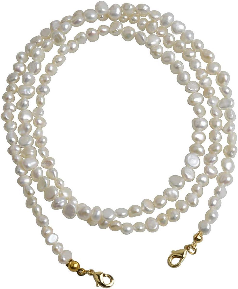 Qordelia Genuine Natural Baroque Pearl Necklace Bracelet Sunlasses Chain for Women Girls Kids
