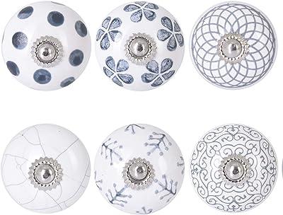 Unique Cabinet Hardware for Bedroom Dressers Nightstands /& Kitchen Cupboards Decorative Ceramic Door Knob in Mint Green Pastel Bureaus