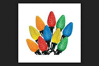Celebrations 47736-71 Indoor/Outdoor C9 LED Multi-Color Light Bulbs On A Reel, 49`, 75 Bulbs