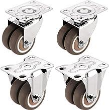 2 inch gasten X4 Silent Casters Meubelwagen Universal Wheel Flatbed Universal Wheel met Rem Rubber Wiel Richting Casters (...