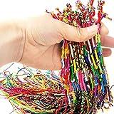 Deinbe 10 pcs hecho a mano de hilo tejida cuerdas de la amistad del hippie para el tobillo pulsera pulsera de la trenza de cables de colorido