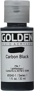 Golden Fluid Acrylic Paint 1 Ounce-Carbon Black