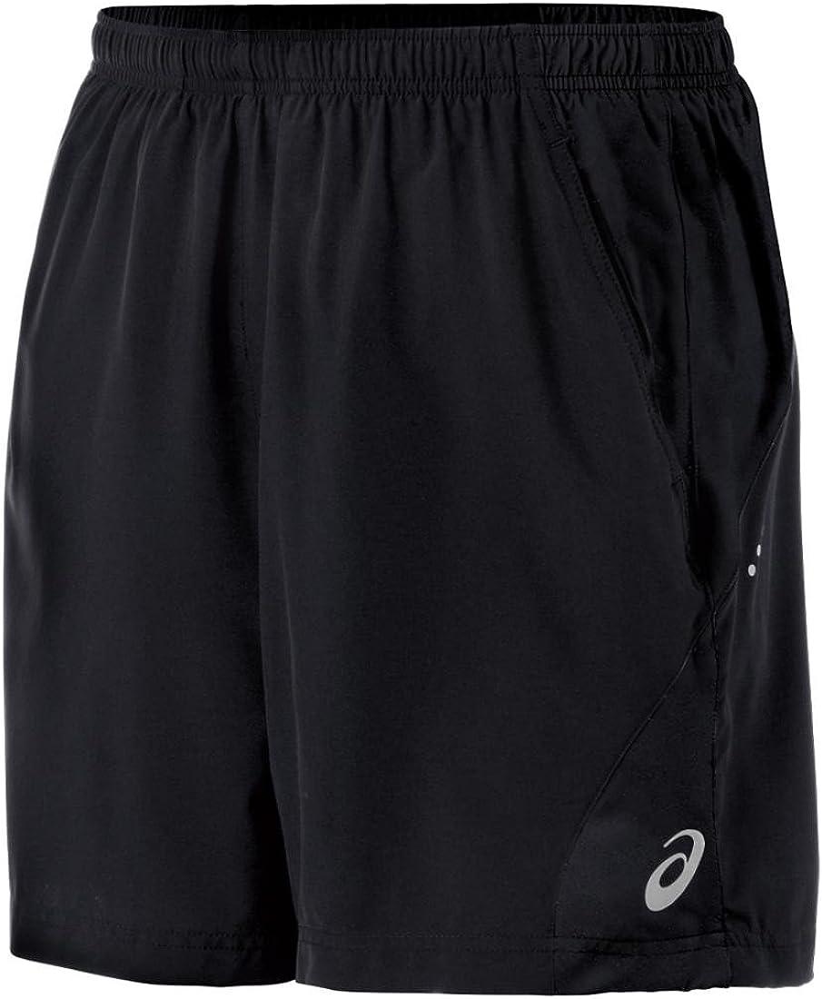 ASICS Men's Popular standard 2-N-1 Short Woven Six-Inch Elegant