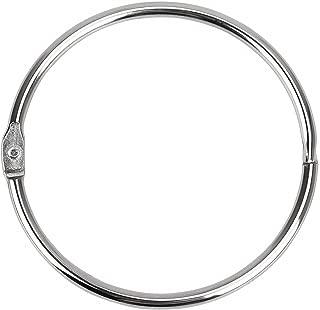 Binder Rings Loose Leaf Book Ring (8 Pack) Large 2-3/4 Inch Diameter Nickel Plated (Silver )