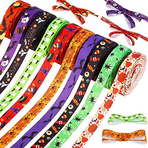 10 Rolls 50 Yards Halloween Ribbons