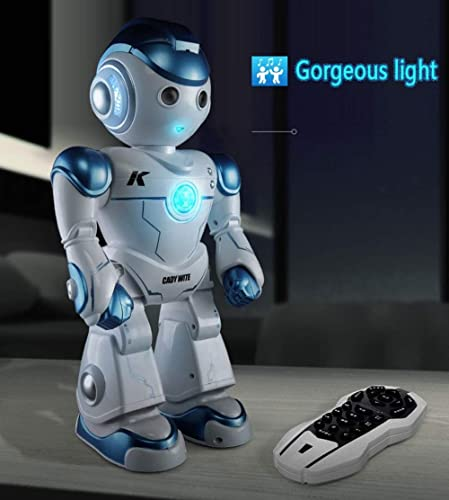 mas preferencial KYOKIM Robot De Control Remoto Inteligente Juguete Diverdeido Diverdeido Diverdeido para Niños Tiene Ojos LED Canta Canciones Baila Camina Funciones,azul  Obtén lo ultimo